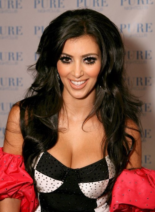 kim always looks flawless but um… this isn't a good look for her