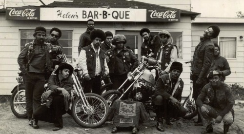 THE WILD BUNCH African American bikers club strike a pose for the camera. FIND US ON TWITTER | FACEBOOK | TUMBLR | FLICKR | PINTEREST