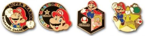 25th Anniversary Mario Pins from Nintendo Club. If you have WII or DS games & don't care about Nintendo Club stuff give the codes in the game to me…PLEASE!