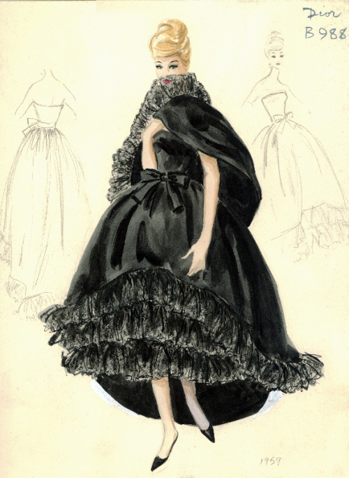 Dior Gown Thanks lalapelosa for this amazing collection of illustrations!