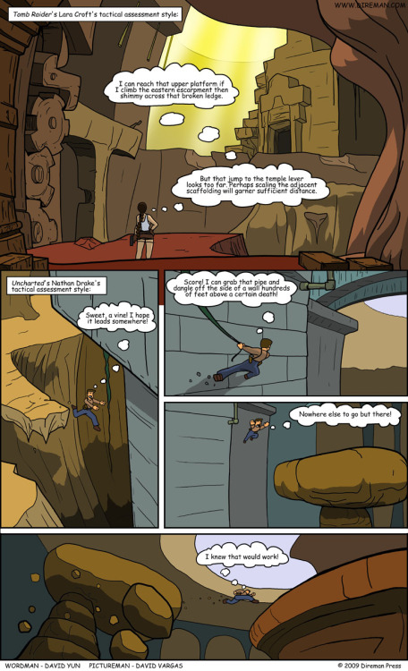 Uncharted vs. Tomb Raider Comic; hahaha, cute.