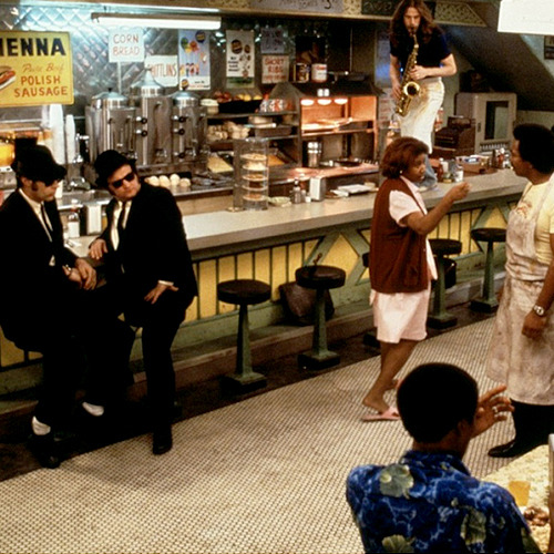 The Blues Brothers - Aretha Franklin, John Belushi, Dan Aykroyd,
