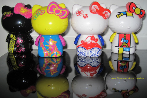 Hello Kitty Taiwan McDonalds Figurines (by Taliebum) London, New York, Japan & Paris