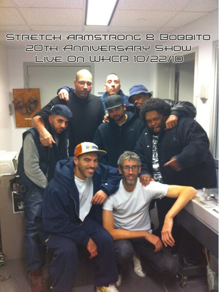 Rap Radar :: Stretch Armstrong & Bobbito Reunion Show  Not only did the greatest rap radio show of the 90s return to WKCR last night, Stretch and Bob even went an extra hour past their old 1-5 am slot. Stupid props to Altrap for rippin' the whole damn thing. Download the full show.  +++++ Down memory lane.