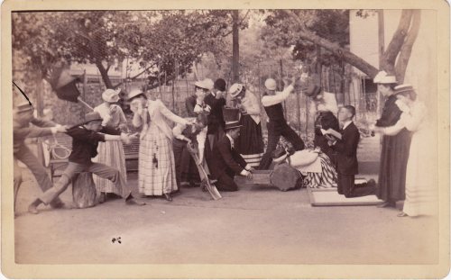 ca. 1890, mock beheading via