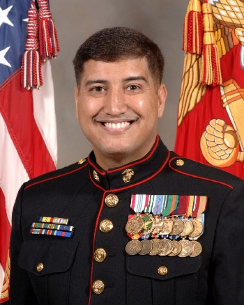 This is Jamal Baadani. He's Muslim, a Marine, and he's wearing a lot of medals.