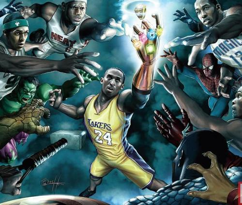 KB24 BITCHES! …these NBA/Marvel pictures are pretty cool!