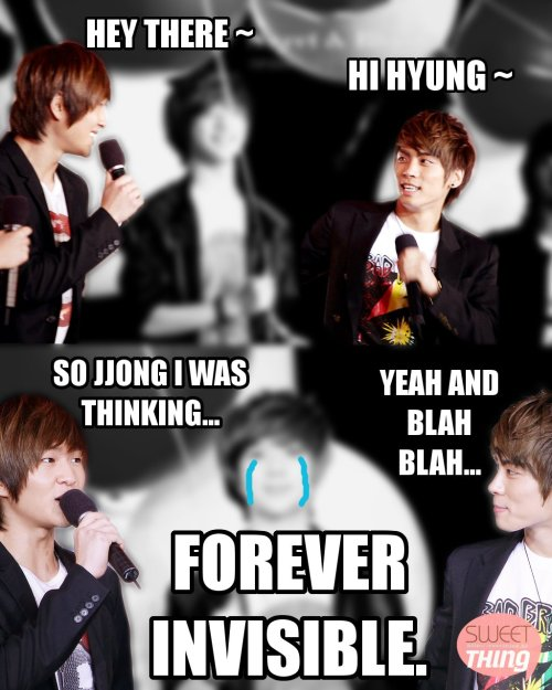 fatgiggles:  Lol this was the first thing I thought when I saw how poor Taemin was blurred in this Jongyu picture.  poor taem