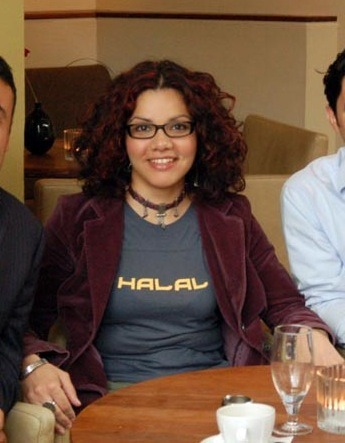 Mona Eltahawy's shirt is not just clothing, but informative.