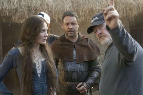 Russell Crowe, Ridley Scott and Cate Blanchett in Robin Hood