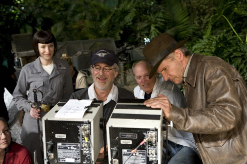 Harrison Ford, Steven Spielberg and Cate Blanchett in Indiana Jones and the Kingdom of the Crystal Skull