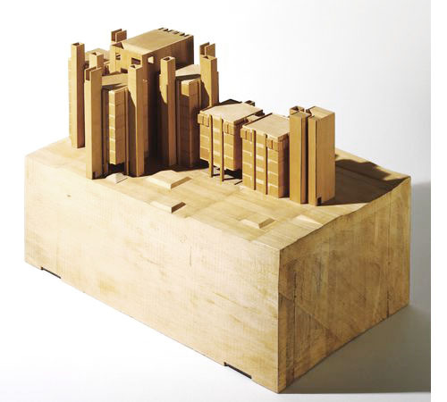 © louis kahn + alfred richards (model) - medical research building, university of pennsylvania - philadelphia, usa - 1957
