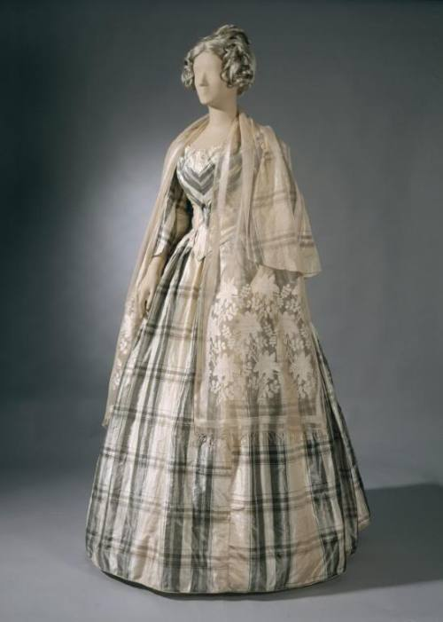 Ballgown | 1850   Reminds me of Mary Smith from Cranford - lovely!