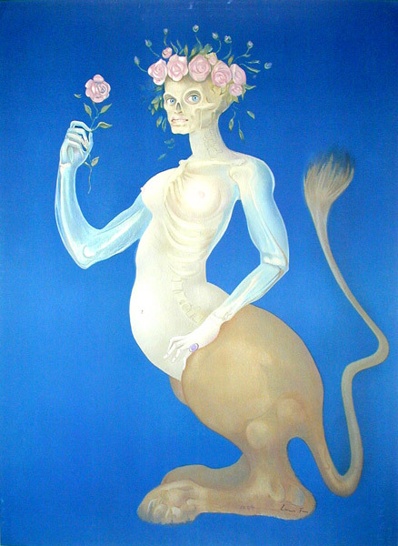 The Beauty.Original color lithograph, 1974 by Leonor Fini *