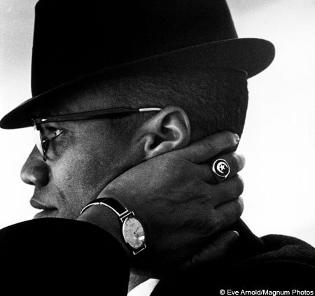 Malcolm X was serious about his accessories.