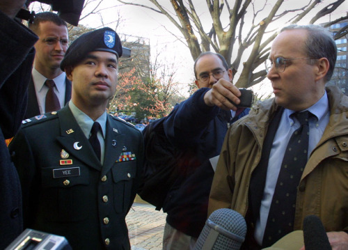 Former US Army Captain James J. Yee dons a beret, and takes it very seriously.