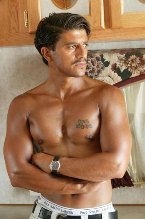 Muslim Moroccan-French actor Said Taghmaoui does not care much for shirts.