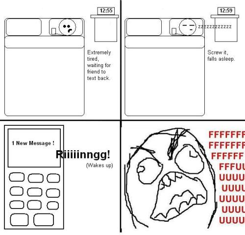 daily-rage-comics:  text message FUUUUU You have to follow this blog, it's amazing
