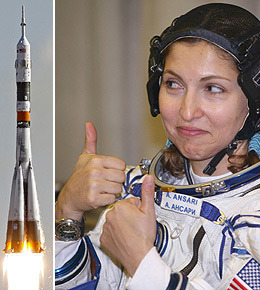 First Muslim woman in space Anousheh Ansari is wearing some confidence ahead of blast-off.