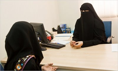 Though dressed in an abaya and niqab, Wedad Lootah breaks stereotypes as a marital and sex counselor in Dubai, and gives advice on topics such as oral sex, the female orgasm, and the importance of sex education.