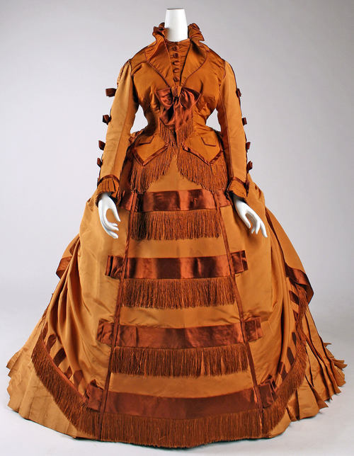 Depret dress ca. 1867-1871 via The Costume Institute of The Metropolitan Museum of Art