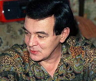 "Azerbaijani singer Muslim Magomaev, known as the ""Soviet Sinatra,"" is seen here in a simple batik print shirt."