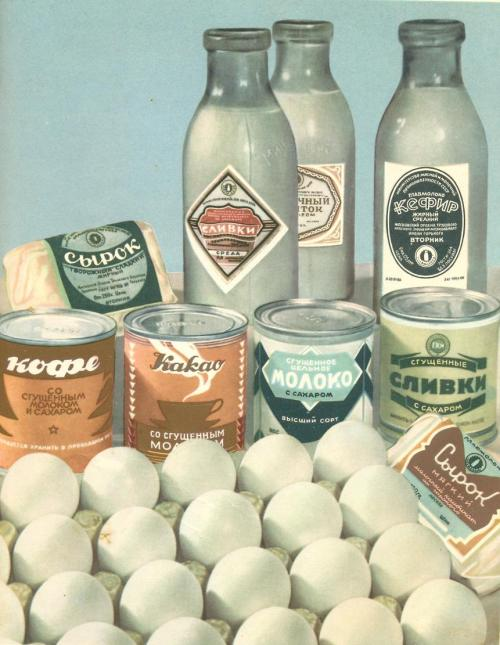 backtotheussr:  «Книга о вкусной и здоровой пище», 1953 Dairy products and condensed milk based products (condensed milk = YUM)