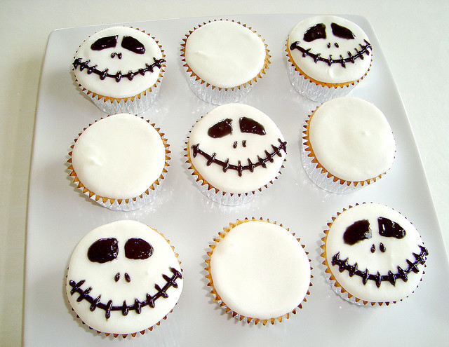 foodfuckery:  Nightmare Before Christmas Cupcakes , Brown Sugar Pound Cupcakes, Nutella-Filled.