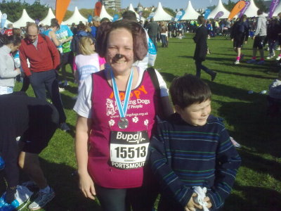 Mrs H completed Great South Run for @HearingDogs in 1:51:29, smashing her target of 2hrs!     - Posted using Mobypicture.com