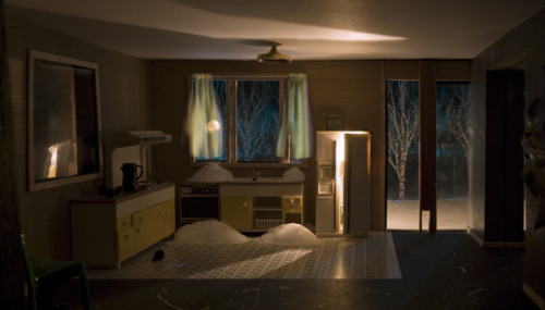 Eerily pretty. David Hoffos, Scenes from the House Dream: Winter Kitchen, (detail), 2007. Courtesy of the artist and TrépanierBaer Gallery, Calgary. Currently exhibited @ MOCCA