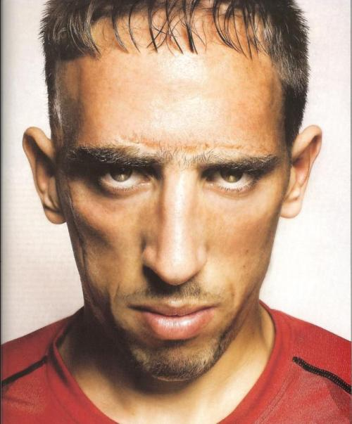 When Franck Ribery gets on the soccer pitch, he sees, and wears, only red.