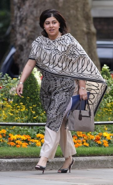 Baroness Sayeeda Warsi dares to mix patterns, but successfully wins this one in the war of fashion faux pas.