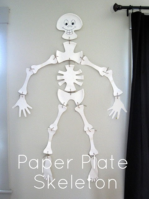 writeclickscrapbook:  Halloween Printable: Paper Plate Skeleton | Executive Homemaker