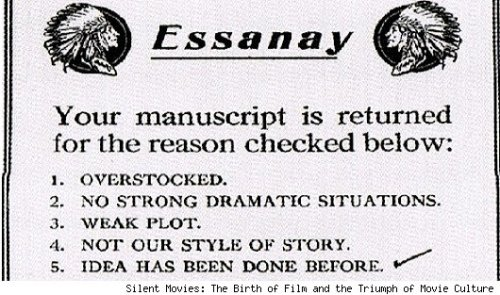 Here's How Movie Studios Rejected Scripts in the Early 1900s | Cinematical
