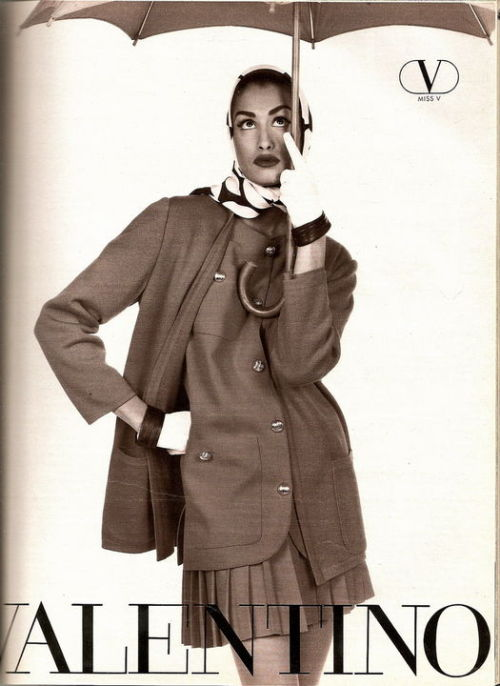 Yasmeen Ghauri models an ensemble from Valentino's Muslimwear collection.
