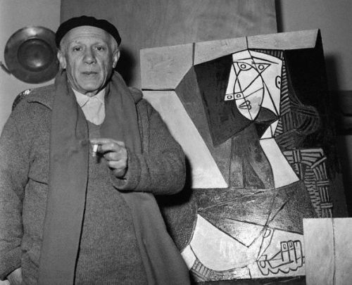 merlin:  theimpossiblecool:  Born today - Pablo Picasso  Too bad the guy never got much accomplished.     Shit. I can't decide. Should this go under '@painting' or '@canvas'—maybe under 'Musings: Someday/Maybe'—or…shit. Shit. If only I had a better productivity system.  Shit. I better go buy some new books about organization for artists…""