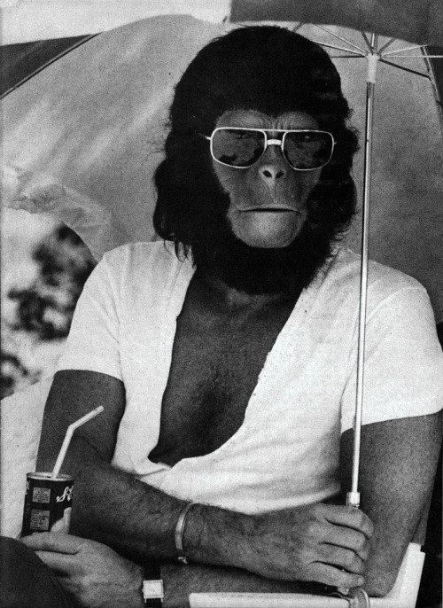 On the set of Planet of The Apes via Robby Wells