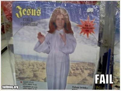 Jesus Costume (via Failblog)