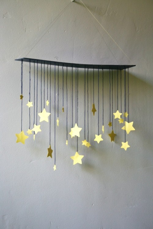 robot-heart:  Raining Stars Mobile by shopsimplethings on Etsy