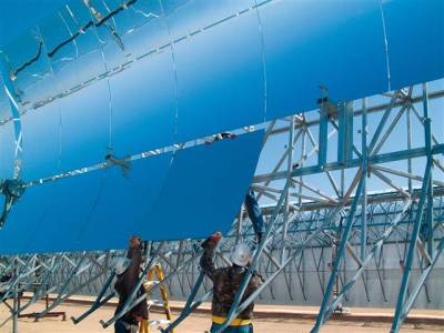 smarterplanet:  U.S. OK's world's largest solar power plant - msnbc.com  The Obama administration on Monday approved what investors say will be the world's largest concentrated solar power plant and one that more than doubles all of U.S. solar output and can power at least 300,000 homes.