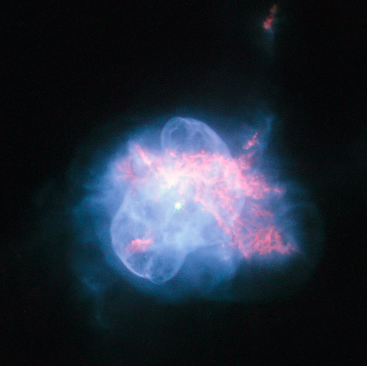 An Odd Planetary Nebula In Hercules The NASA/ESA Hubble Space Telescope has taken a striking high resolution image of the curious planetary nebula NGC 6210. Located about 6500 light-years away, in the constellation of Hercules, NGC 6210 was discovered in 1825 by the German astronomer Friedrich Georg Wilhelm Struve. Although in a small telescope it appears only as a tiny disc, it is fairly bright. Credit: ESA/Hubble and NASA
