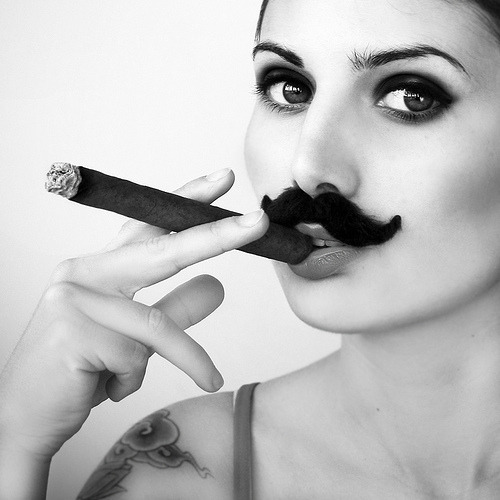 hornedviper:  Mustache & Cigar  This will be me tonight playing poker, sans the 'stache.