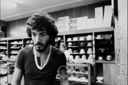 """Unseen Springsteen - ""Happy Birthday Bruce Springsteen!"" Exhibition Preview First stop - New Orleans. Meyer The Hatter, 120 St. Charles Avenue. Family-owned and operated since 1894. Bruce picked out a cap with the help of Sam Meyer. It was bigger and floppier than the one he wore in the Born to Run album cover shoot."" See more at Q"