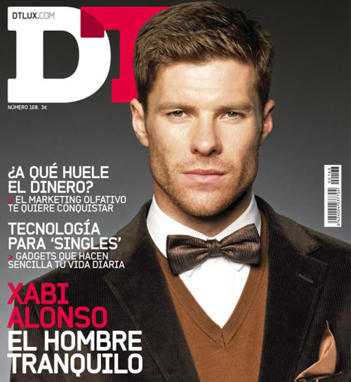 fuckyeahhspain:  (via fygerlonso)  Another magazine cover for Xabi. Four more pictures here and another of those behind the scenes videos here. ETA: Plus, the actual interview: http://www.dtlux.com/mundolux/nombrespropios/articulo/xabi-alonso-dt-futbol-elegante   Ay mi Xabi *________*