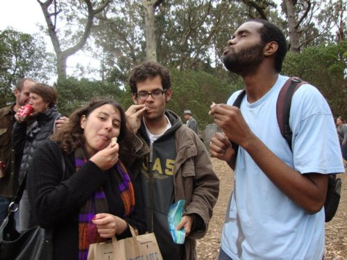 Ivan Bakes Bread. We Eat Bread. Nicole, Ivan and OJ (me) at Hardly Strictly Bluegrass. Photo by. Ashley Bennett