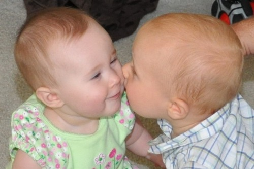 "First kiss by Wes Gladwell.  ""Alyse and Dylan"" submitted by Russ Campbell."