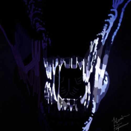 alexleefitz:  (Late) Day 24 of my Horror-Icon-A-Day Project The Alien (Alien) I don't care who you are. If you saw this in the middle of the night all  up in your face, you'd probably cry like I did the first time I saw  this as a 5 year old