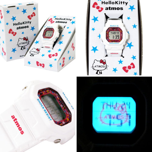 hello-kitty:  Hello Kitty x Atmos Casio Baby G-Shock  For those of you asking where you can get this, it's currently only available in Japan.