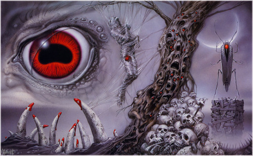 Another piece by Michael Whalen that was used on a series of H.P. Lovecraft paperbacks.