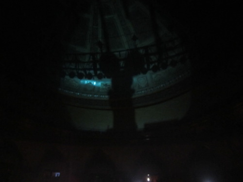 Deadmau5's shadow on the back on Congress Theatre